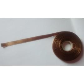 Saténová stuha š. 10 mm sv. hnědá 1033