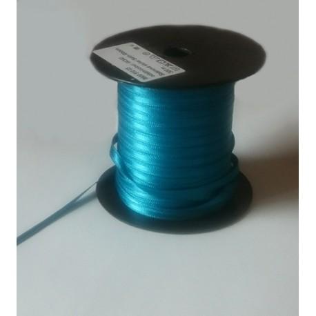 Záložka saténová š. 5 mm tm. tyrkysová