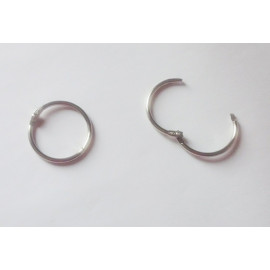 Kroužek spojovací průměr 25 mm nikl (knihařský)