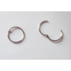Kroužek spojovací 14 mm nikl (knihařský)