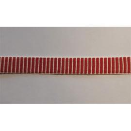 Tkanice červenobílá š. 16mm